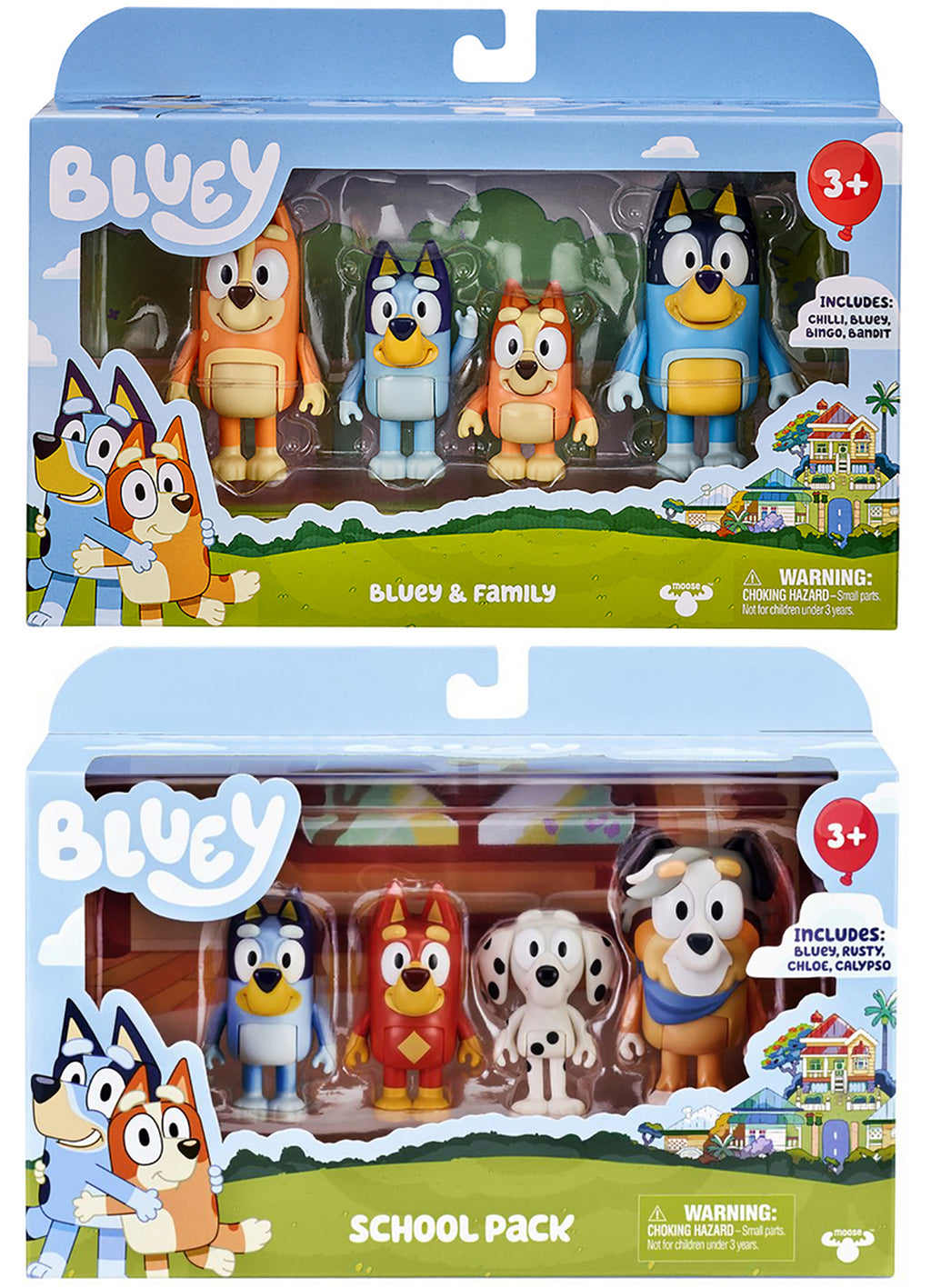 Bluey School & Family Mini Figure 4-Pack - (Bundle of 2)