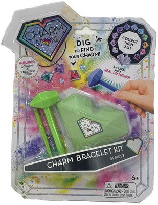 Charm Stone Bracelet Digging Kit - Green (Series 1)