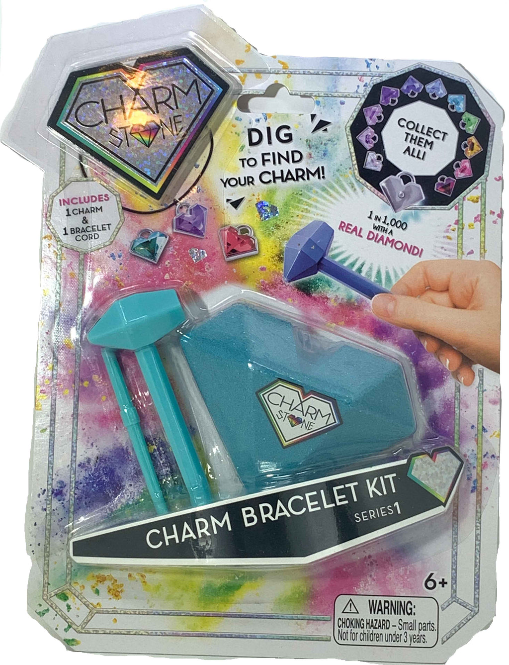 Charm Stone Bracelet Digging Kit Series 1 (Teal)