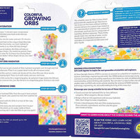 Colorful Growing Orbs - Steve Spangler Science wording on package