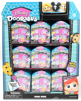 Disney Doorable series 4 mini peek (2-3 figures per box) (Sealed Case of 27)