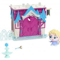 Disney Doorables Mini Playset Elsa's Frozen Castle look inside