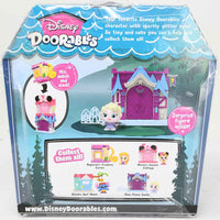 Disney Doorables Mini Playset Elsa's Frozen Castle back of package