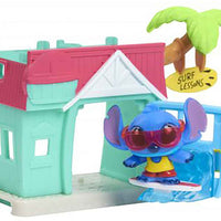 Disney Doorables Mini Playset Stitch's Surf Shack look inside