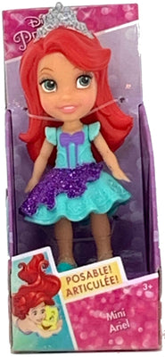 Disney Princess Mini Toddler Doll - Ariel (Purple Sparkle Dress)