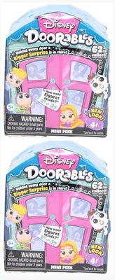 Disney Doorable series 4 mini peek - set of 2 boxes (2-3 figures per box)
