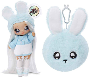 Fashion Doll Na Na Na Surprise 2-in-1 Aspen Fluff with Zippered Plush Bunny POM