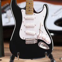 Fender™ Strat™ Classic Black Miniature AXE Guitar Replica - Officially Licensed Collectible (FS-002) close up
