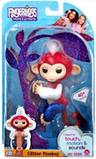 Exclusive Wow wee Fingerlings Liberty - glitter monkey - red white and blue