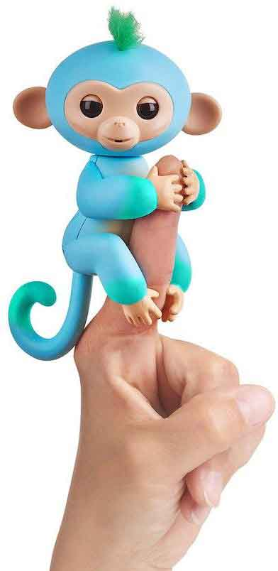Fingerlings Charlie on finger