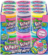 Flarp Glitter Putty (Bundle of 6 - All Colors)