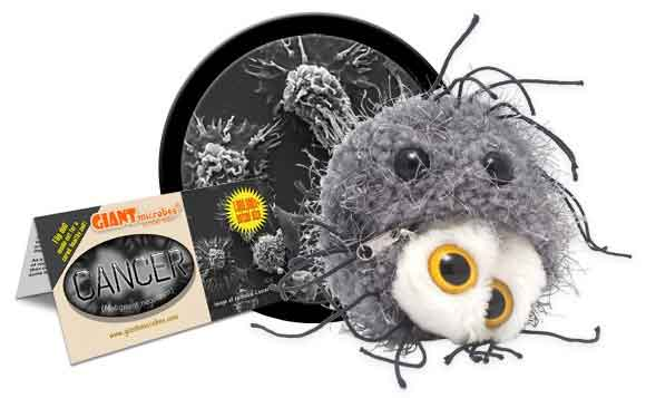 Giant Microbes Plush - Cancer (Malignant Neoplasm) close up