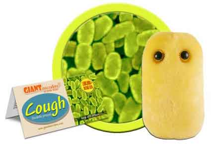 Giant Microbes Plush - Cough (Bordetella Pertussis) close up