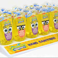 Bubble Gum Scented antibacterial Hand Sanitizer - SpongeBob SquarePants full case of 24 angled
