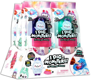 I Dig Monsters Color Change Monji Mystery Popsicle Pack (Bundle of 6)