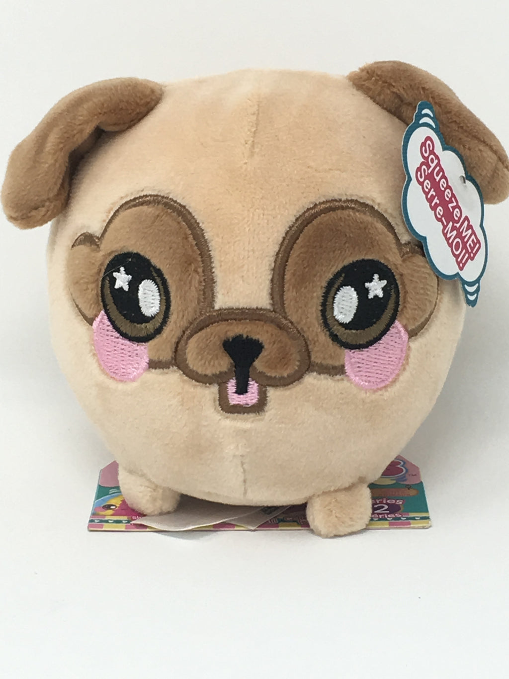 "Squishamals - Bryce The Pug (small 3.5"")"