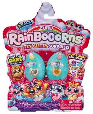 Rainbocorns Itzy Glitzy Series 1 Mystery 2-Pack (2 RANDOM Eggs!)