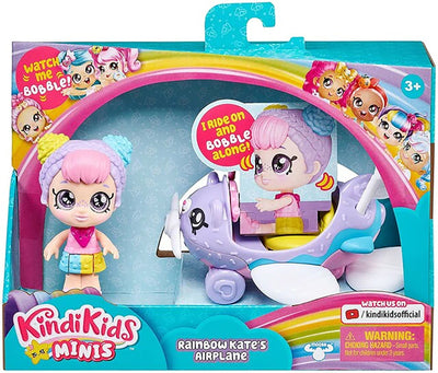 Kindi Kids Minis Rainbow Kate Airplane & Doll