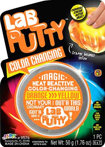 Lab Putty - Color Changing orange turns to yellow
