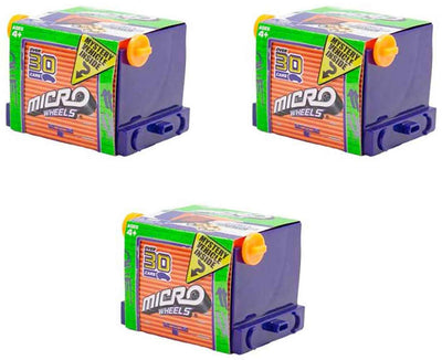 Micro Wheels Mini Motorized Machines (Bundle of 3 Mystery Vehicles)