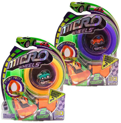 Micro Wheels Stunt Pack (2 Packs - Random Colors)