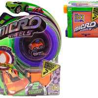 Micro Wheels Stunt Pack plus 1 additional mystery vehicle (Random Colors)