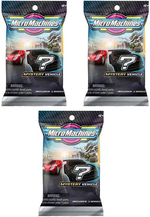 Micro Machines Series Mystery Packs (Bundle of 3)