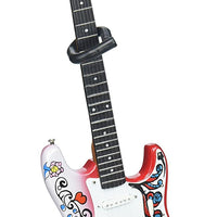 Jimi Hendrix Miniature Fender™ Strat™ Monterey Guitar Model - Officially Licensed Collectible (JH-801) on the stand