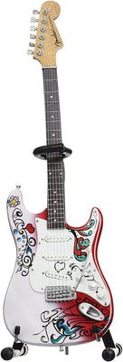 Jimi Hendrix Miniature Fender™ Strat™ Monterey Guitar Model - Officially Licensed Collectible (JH-801)
