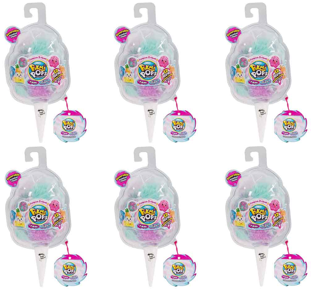 Pikmi Pops Pikmi Flips Bundle of 6 (Scented Reversible Plush Toy)