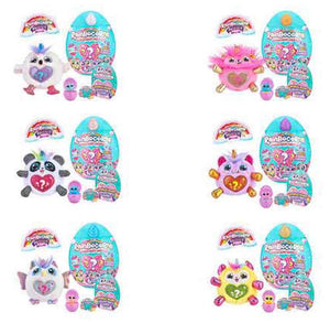 Rainbocorn Plush Sparkle Heart Surprise Series 2 - random selection (mini rainbocorn) Complete Set
