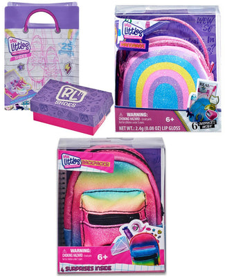 Shopkins Real Littles Sneakers, Handbag & Backpack (Bundle of 3 Mystery)
