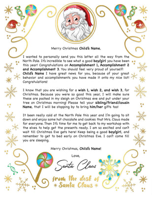 Santa Letter Golden Candy - 2A