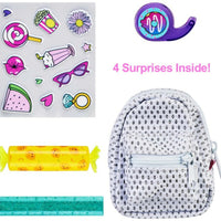 Shopkins Real Littles Backpack Series 2 (Complete set of 6) look inside