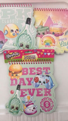 This Shopkins Die Cut Memo Pad is a set of 3 pads to write down recipes, lists or anything you want to keep track of.