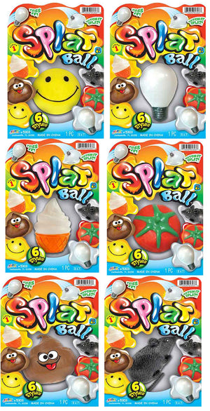Splat Ball - Complete Set of 6 Cream (Series 1)