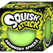 Squish Attack Glow Squooshy Sphere Green
