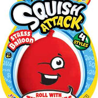 Squish Attack Stress Balloon red