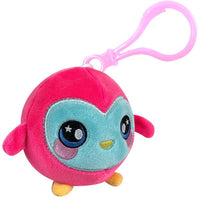 "Squishamals / Squeezamals - Ollie The Owl (Clip On - 3"") pink"