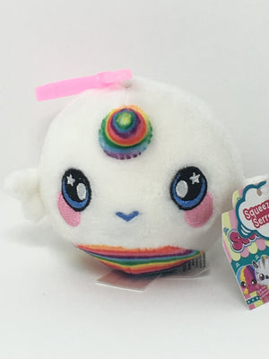 "Squishamals / Squeezamals - Unicorn with Rainbow Horn  (Clip On - 3"")"