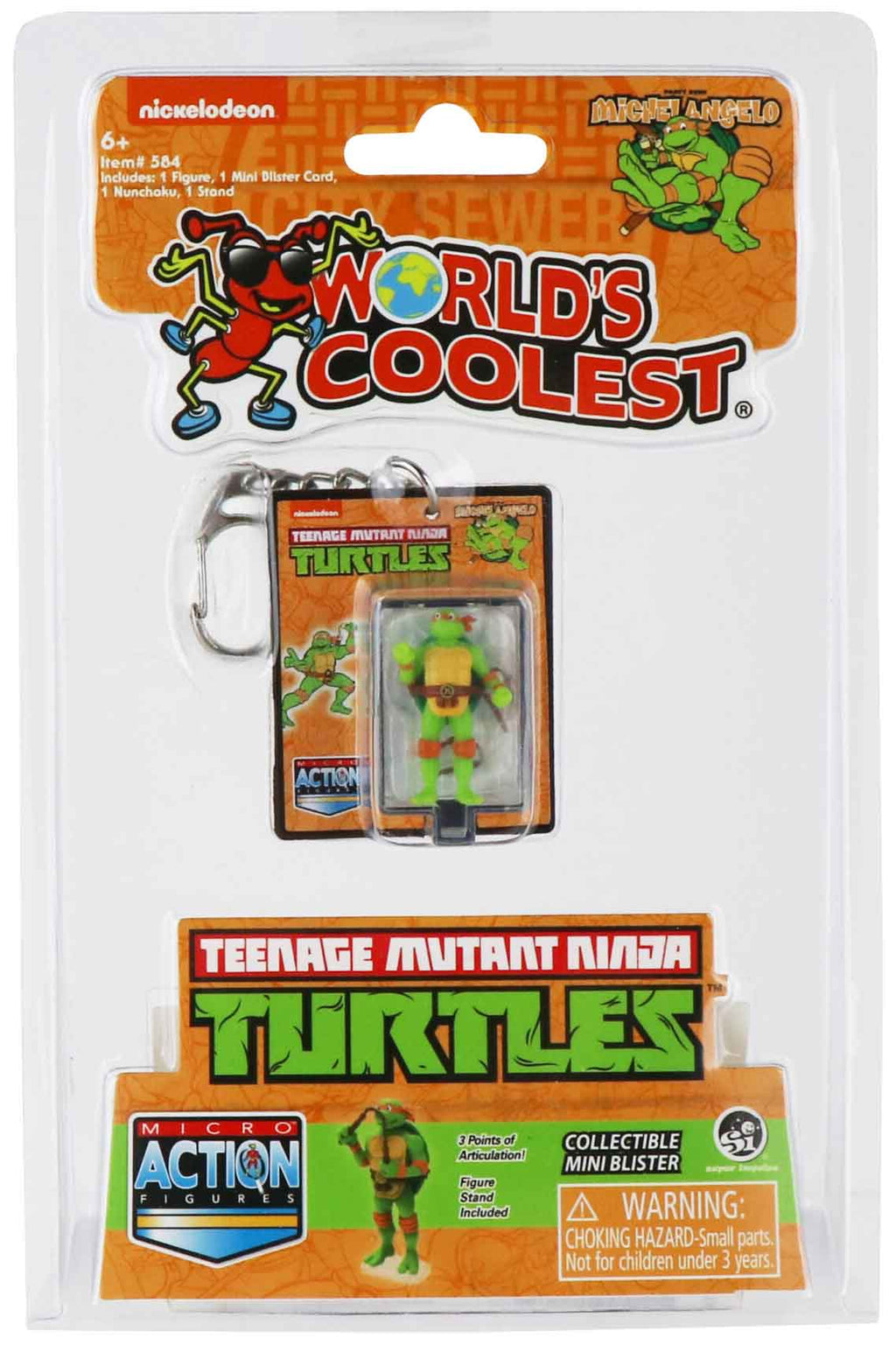 World's Smallest Teenage Mutant Ninja Turtles Michelangelo