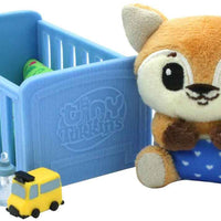 Tiny Tukkins Baby 'n' Crib Mystery Plush Pack fox