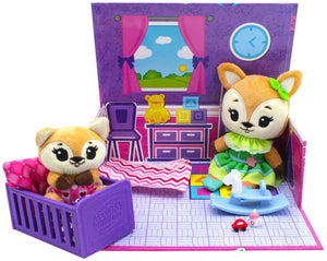 Tiny Tukkins Cuddle 'n' Play Den Core Pack - Fox open