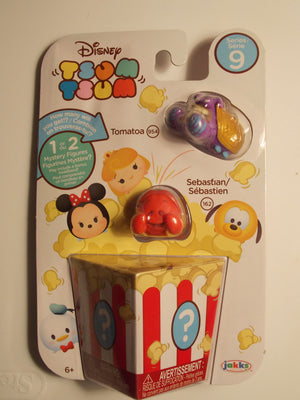 Disney Tsum Tsum Season 9 Tomatoa, Sebasfian plus 1 or 2 Mystery Figures