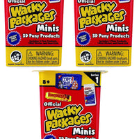 World's Smallest Wacky Packages Minis Series 1 Mystery Pack (Bundle of 3)