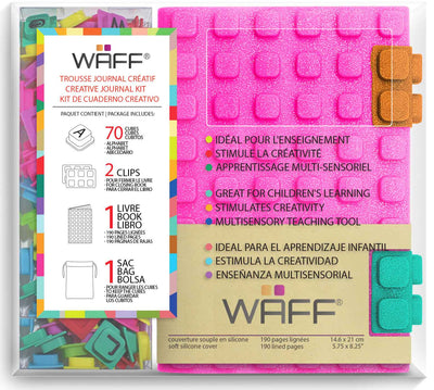 Waff Journal & Cubes Combo Kit (Pink Glitter)