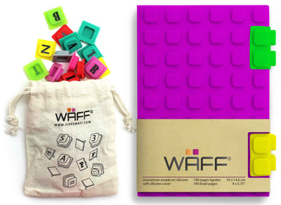 Waff Journal & Cubes Combo Kit (Purple)