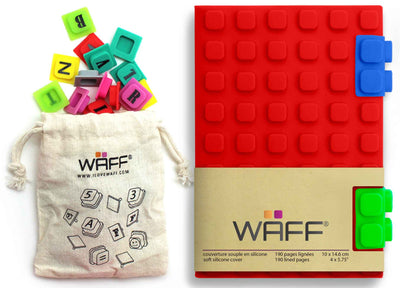 Waff Journal & Cubes Combo Kit (Red)
