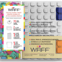 Waff Journal & Cubes Combo Kit (Silver Glitter) in package