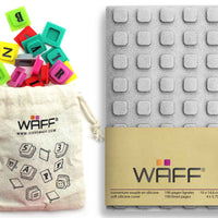 Waff Journal & Cubes Combo Kit (Silver Glitter)